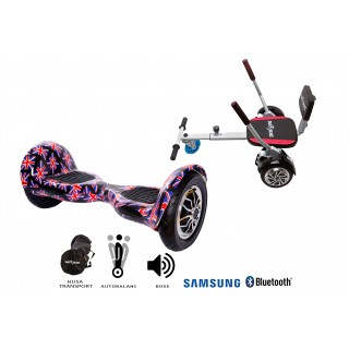 PACHET PROMO: Hoverboard OffRoad England + Hoverseat cu burete