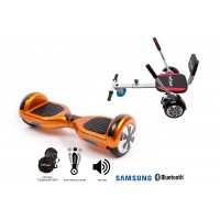 PACHET PROMO: Hoverboard Regular Orange + Hoverseat cu burete