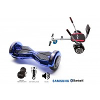 PACHET PROMO: Hoverboard Transformers ElectroBlue + Hoverseat cu burete