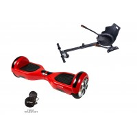 PACHET PROMO: Hoverboard Regular Rosu + Hoverseat