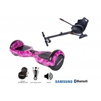 PACHET PROMO: Hoverboard Regular Galaxy Pink + Hoverseat