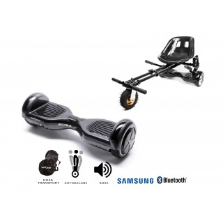 PACHET PROMO: Hoverboard Regular Carbon + Hoverseat cu suspensii