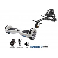 PACHET PROMO: Hoverboard Regular White Pearl + Hoverseat cu suspensii