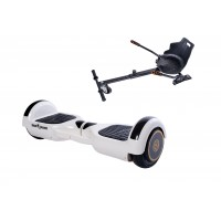 PACHET PROMO: Hoverboard Regular White cu maner + Hoverseat