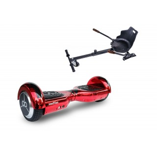 PACHET PROMO: Hoverboard Regular Skate Flash Eletro Red + Hoverseat