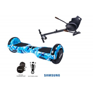 PACHET PROMO: Hoverboard Regular Camouoflage Blue + Hoverseat