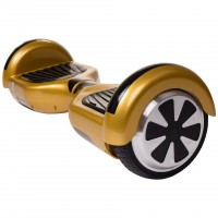 Hoverboard Smart Balance™, Regular Gold + Hoverseat, roti 6,5 inch, Bluetooth, AutoBalans