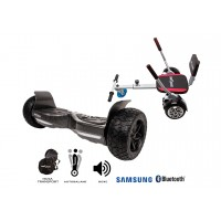 PACHET PROMO: Hoverboard Hummer Carbon + Hoverseat cu burete