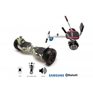PACHET PROMO: Hoverboard Hummer Camouflage + Hoverseat cu burete