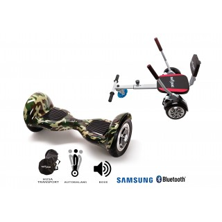 PACHET PROMO: Hoverboard OffRoad Camouflage + Hoverseat cu burete
