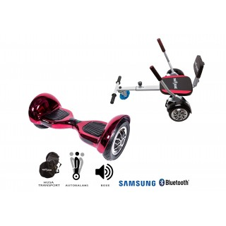PACHET PROMO: Hoverboard OffRoad ElectroRed + Hoverseat cu burete