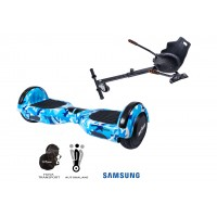 PACHET PROMO: Hoverboard Regular Camouflage Blue + Hoverseat