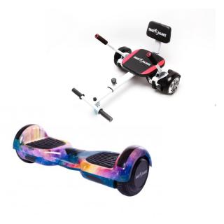 PACHET PROMO: Hoverboard Regular Galaxy Orange cu Maner + Hoverseat cu Burete