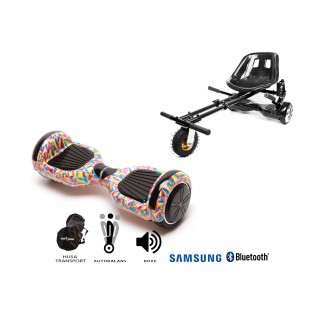 PACHET PROMO: Hoverboard Regular Abstract + Hoverseat cu suspensii