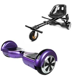 PACHET PROMO: Hoverboard Regular Violet + Hoverseat cu suspensii