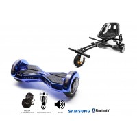 PACHET PROMO: Hoverboard Transformers ElectroBlue + Hoverseat cu suspensii