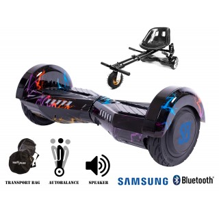PACHET PROMO: Hoverboard Transformers Thunderstorm + Hoverseat cu suspensii